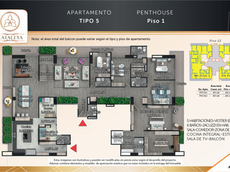 Penthouse Tipo 5 Piso 1