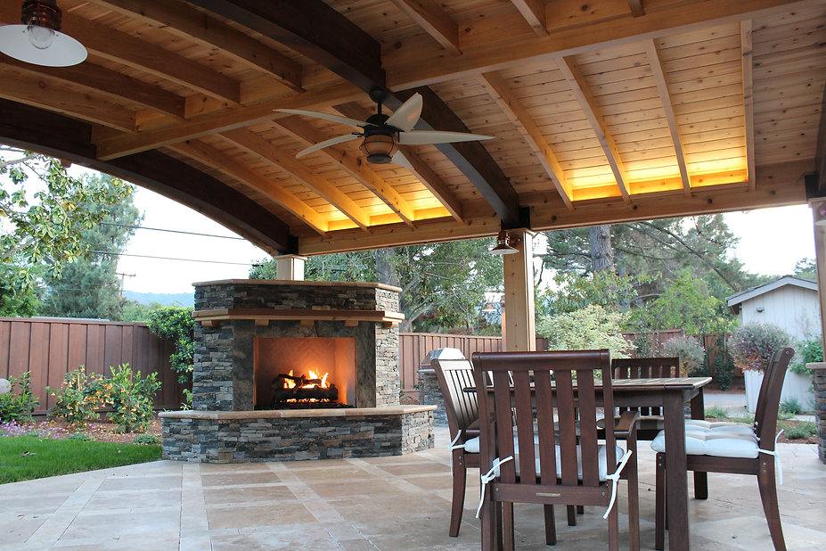 A luxury outdoor patio.