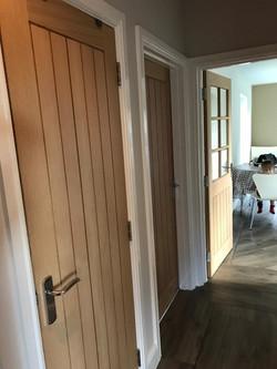 Hallway cupboard, study & kitchen