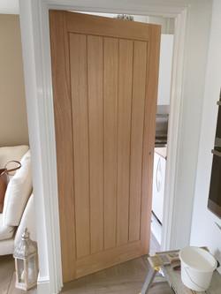 Door to utility prior to varnish