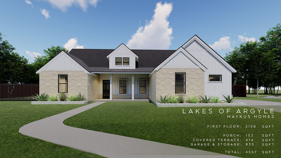 single story four bedroom traditional home by Maykus Homes in Lakes of Argyle