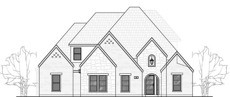 224 Metairie Dr., Southlake front elevation