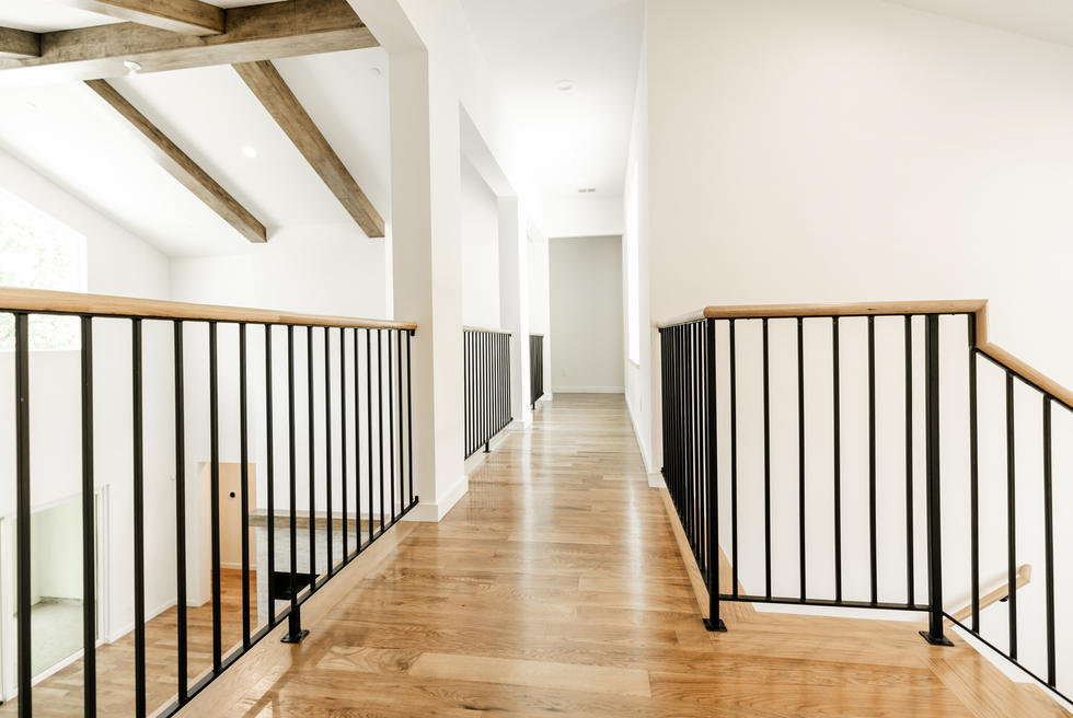 Metal Balusters with Wood Hand Rail