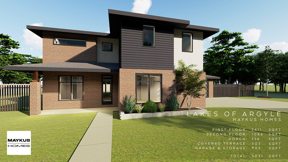 two story three bedroom Maykus modern home in Lakes of Argyle