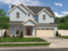 Shady Brook Wall St rendering / Maykus Homes / 4 bedroom two story