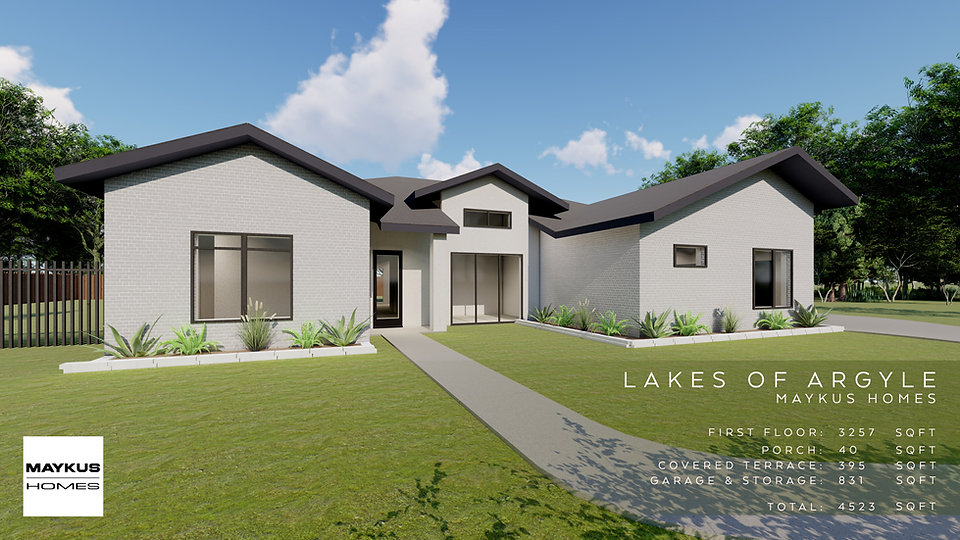 single story four bedroom Maykus modern home in Lakes of Argyle
