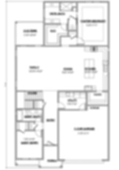 Shady Brook Tate plan / 2 story 3 bedroom plan first floor / Maykus Homes