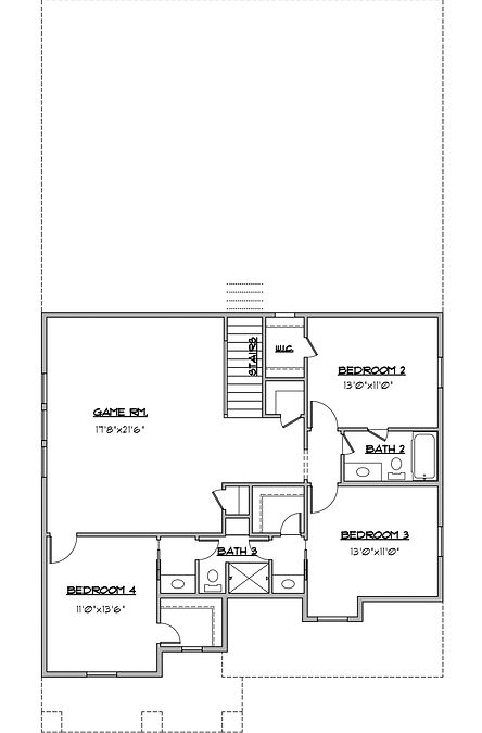 Shady Brook Wall St / Maykus Homes / 4 bedroom two story 2nd floor plan