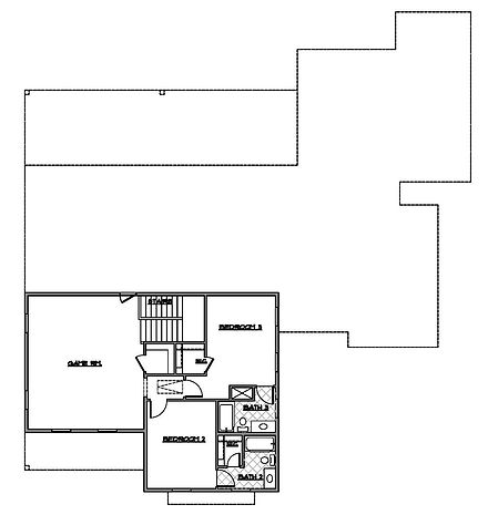 two story three bedroom second floor plan - Maykus Homes - Lakes of Argyle