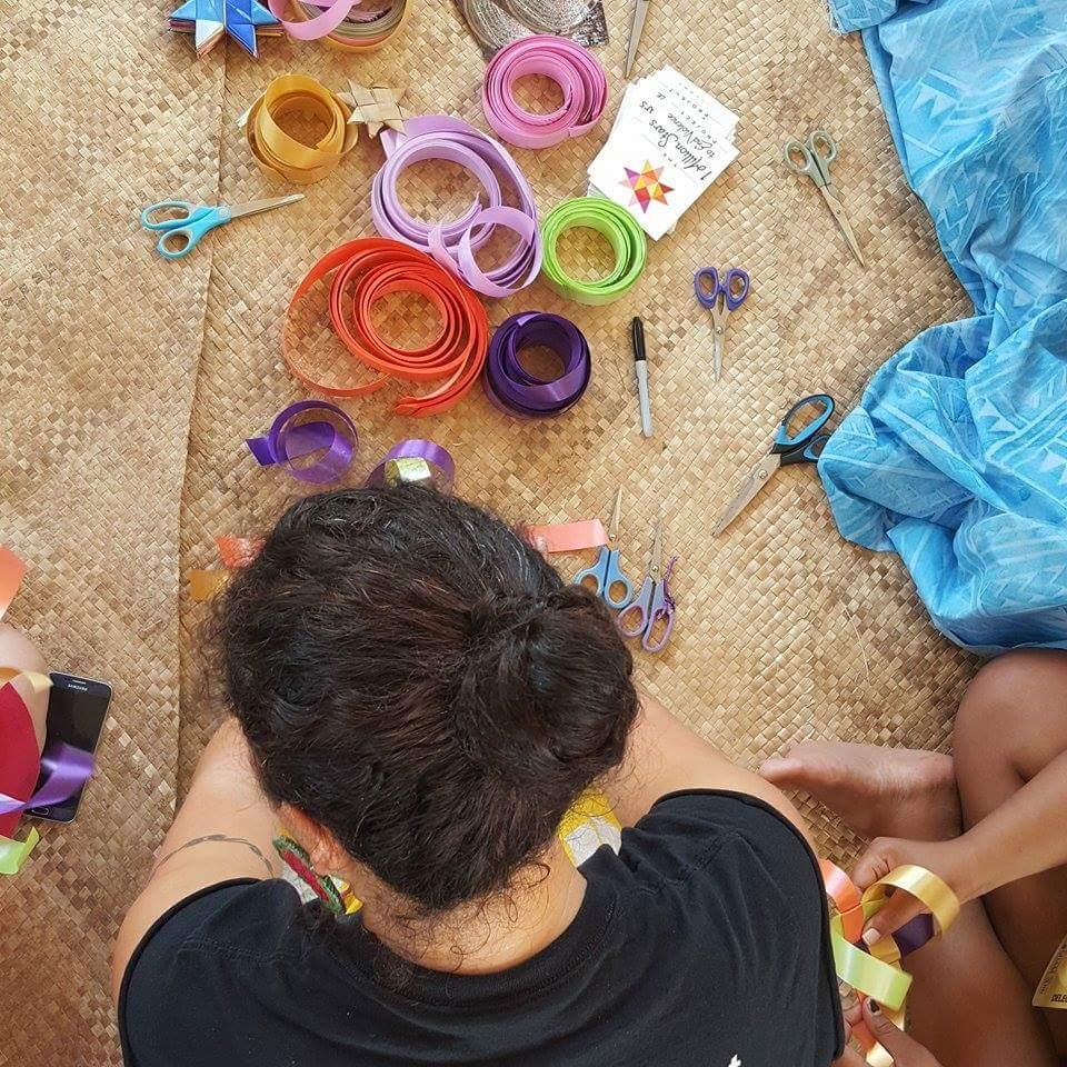 Star weaving in the Guam pavilion. #festpac2016