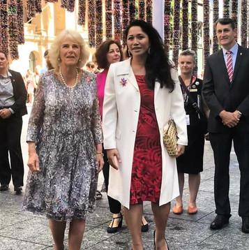 One Million Stars installation visit. HRH Duchess of Cornwall