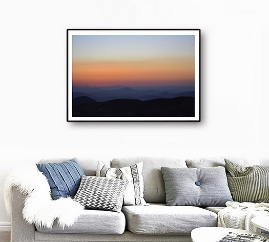 _Rainbow Sunset_ in a room