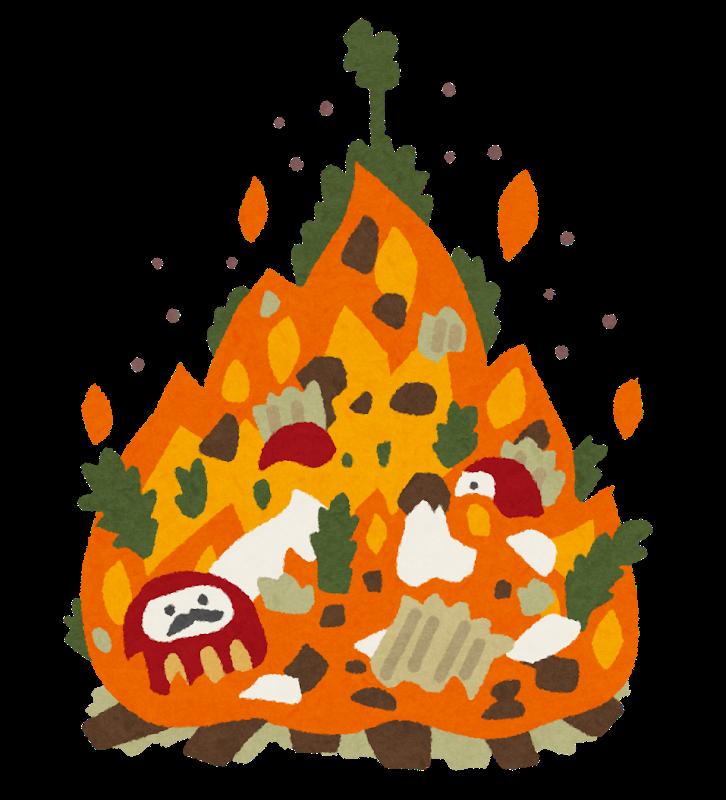 どんど焼き 正月飾りの片付け方 陰陽五行