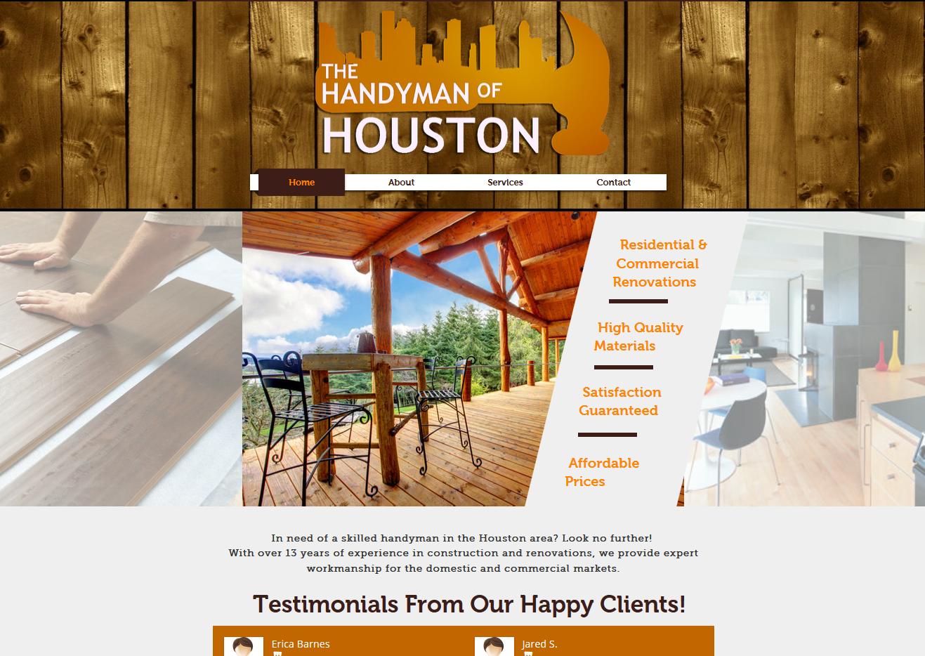 The Handyman Of Houston Website