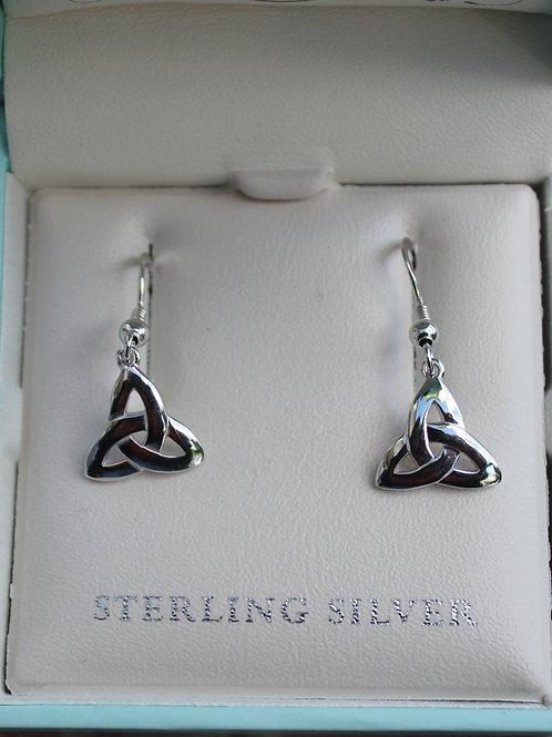 Sterling Silver Trinity Knot Earrings