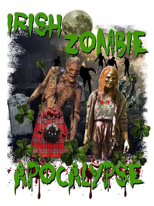 Irish Zombie Apocalypse t-shirt SHORT SLEEVE