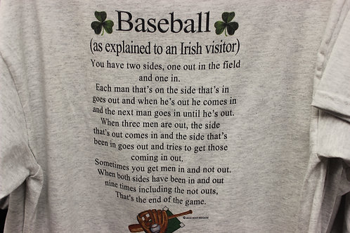 Irish Baseball t-shirt- SHORT SLEEVE