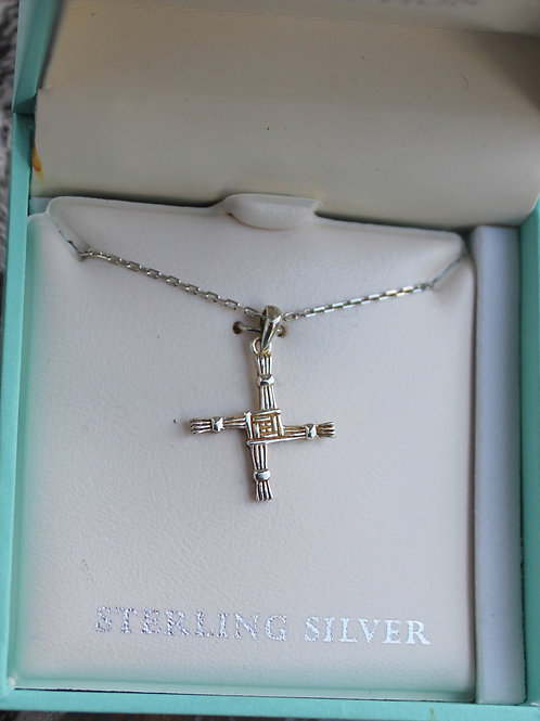 Sterling Silver St. Brigid's Cross Pendant