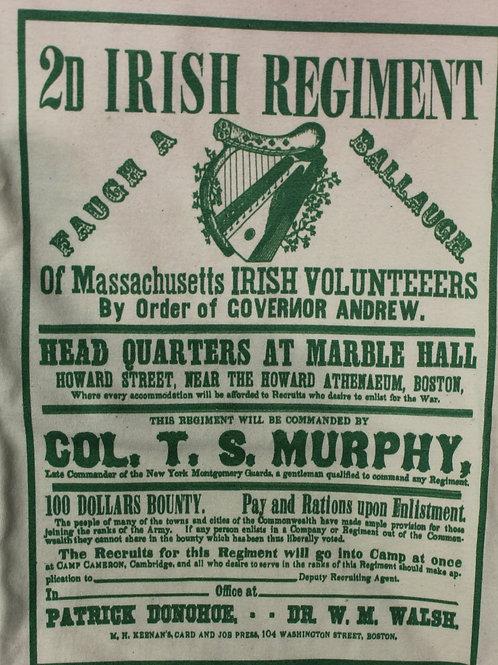 28th Massachusetts Recruiting Poster t-shirt- SHORT SLEEVE