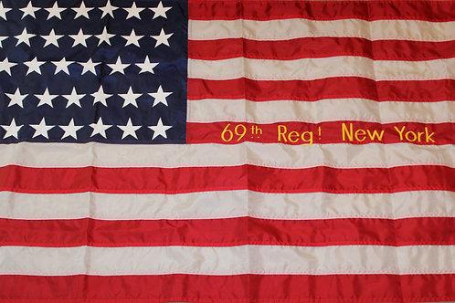 69th New York Union  34 star Flag