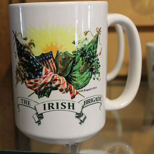 American/Irish Cross Flags Mug