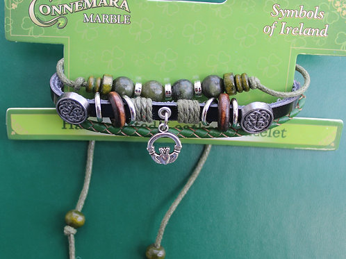 "Handcrafted Leather ""Hippie"" Bracelet"