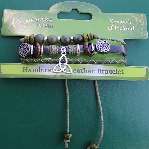 """Handcrafted Leather """"Hippie"""" Bracelet"""