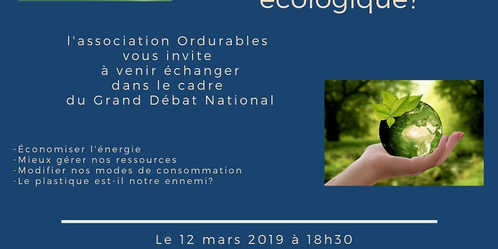 Grand Débat National: quelle transition écologique?