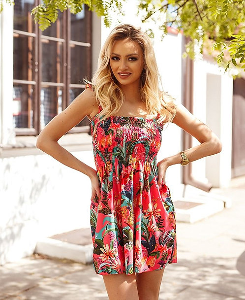 ROBE TROPICALE ROSE