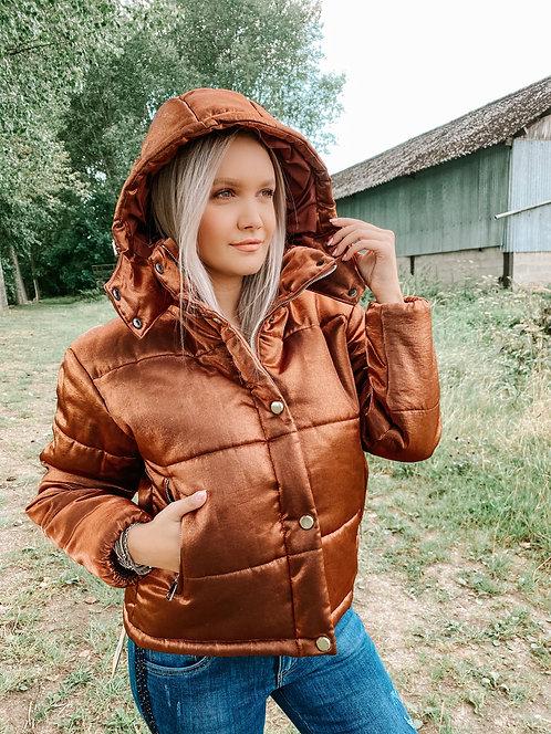 Doudoune marron