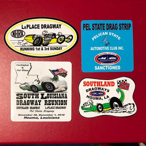 Combo Dragway Reunion Event Stickers