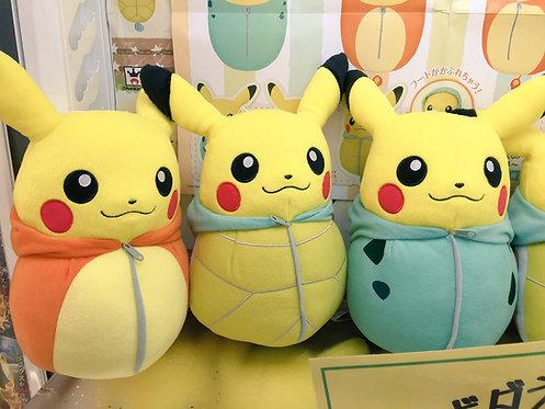 Pikachu Nebukuro Collection Big Plush ~Bulbusaur~Charmander~Squirtle