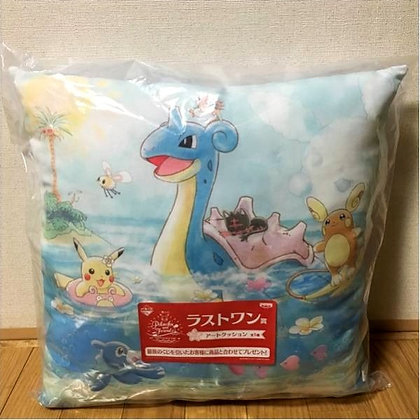 Ichiban Kuji Pokemon Pikachu & Friends Happy Beach Time  LAST ONE Prize Cushion