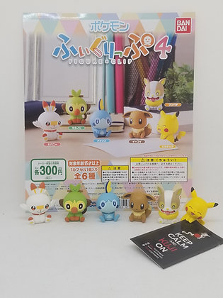 Pokemon Figure Clip 4 Gashapon