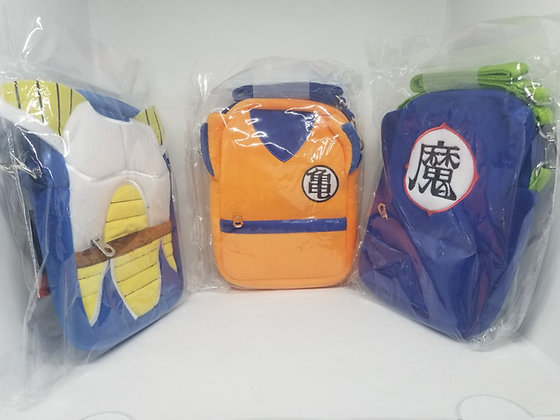 Dragon Ball Z Plush Pouch Collection: Son Goku, Vegeta, Piccolo