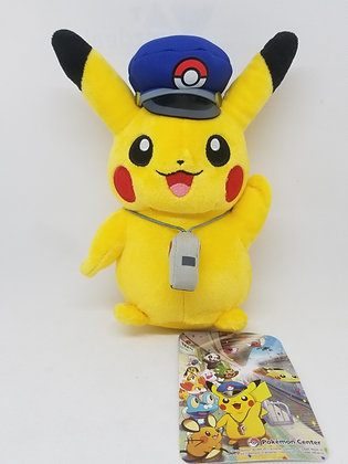 Pokemon Center Japan: Train Station Manager Pikachu Plush