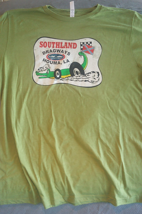 Southland Dragway Vintage, Distressed Shirt, Green Shirt
