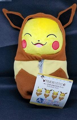Ichiban Kuji: Pikachu Nebukuro Collection: Nuku Nuku Style A Prize Plush