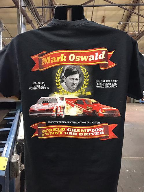 Driver Shirt, Mark Oswald, Funny Car World Champion, Black Shirt