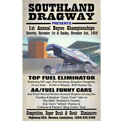 Vintage Southland Dragway Poster