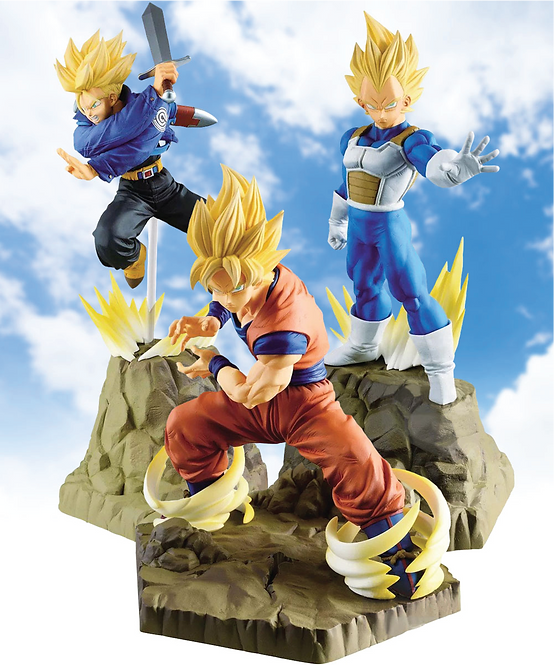 Dragon Ball Z Absolute Perfection Figure Collection: Gokou, Vegeta, Trunks