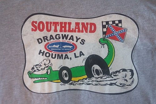 Southland Dragway Vintage, Distressed Shirt Gray Shirt