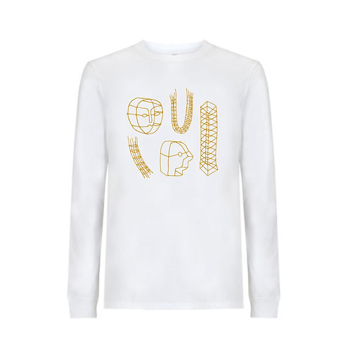 Wire Maquettes; Long sleeve, screen printed tee