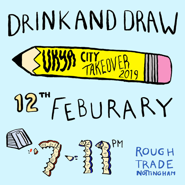Drink and Draw event graphics