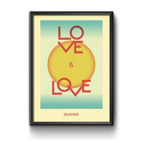 Love Is Love, A3, Risograph print