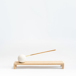 Incense Burner, White Jesmonite