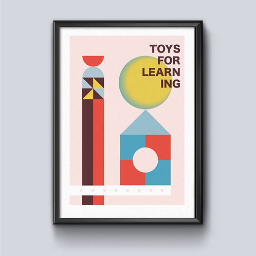 Toys For Learning A3 Risograph Print