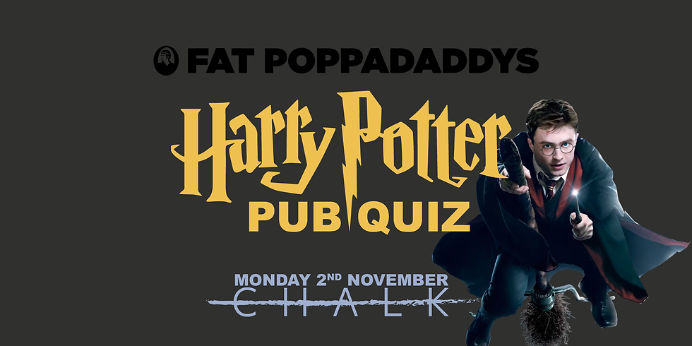 Fat Poppadaddys' Harry Potter Pub Quiz!