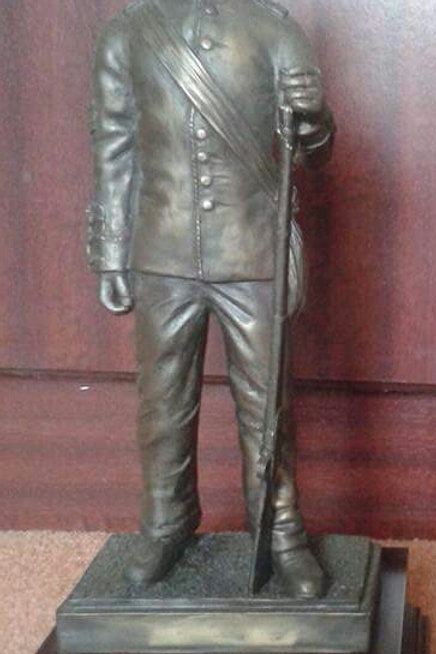 Man at Arms Statue - Bronze Effect