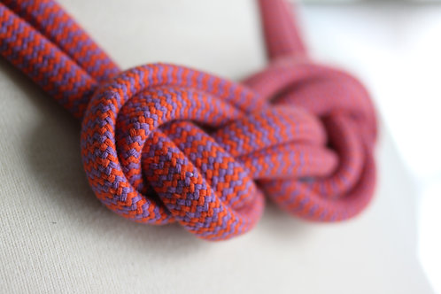 Orange and Purple Rope Necklace